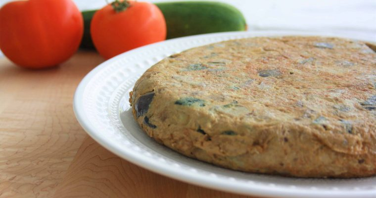 First post ever: Zucchini and eggplant omelet (tortilla)