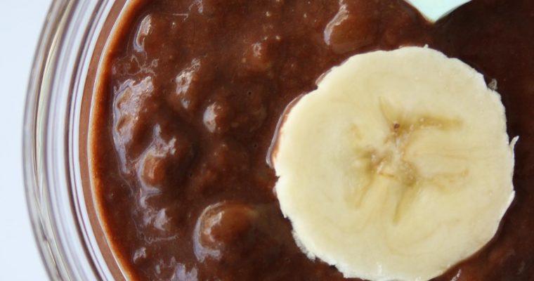 Mashed banana, peanut butter & cocoa powder