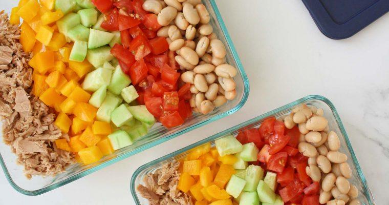 Multicolor white bean salad